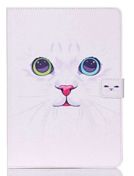 cheap -Case For Apple iPad Mini 5 / iPad New Air(2019) / iPad Mini 3/2/1 Wallet / Card Holder / with Stand Full Body Cases Cat Hard PU Leather