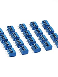 cheap -3 Pin Screw Terminal Block Connector 5mm Pitch for Arduino (Pack of 20pcs)