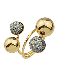 cheap -Women's Statement Ring 1pc Gold Alloy Round Stylish Hip-Hop Daily Date Jewelry Frosted Ball Ball Cool