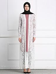 cheap -Adults' Women's A-Line Slip Ethnic Arabian Dress Abaya Kaftan Dress Jalabiya Muslim Dress Maxi Dresses For Halloween Daily Wear Festival Lace Embroidery Lace Embroidered Long Length Dress