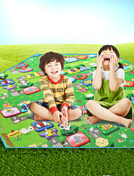 cheap -TANXIANZHE® Picnic Pad Outdoor Waterproof Moistureproof Soft 250*250 cm Casual Camping Traveling All Seasons Green Pink+Green Rainbow