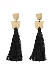 cheap -Women's Drop Earrings Tassel Bohemian Fashion Earrings Jewelry Ash / Green / Blue For Anniversary Gift Daily Date Street 1 Pair