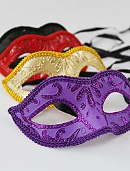 cheap -Venetian Mask Masquerade Mask Half Mask Inspired by Cosplay Black Golden Halloween Halloween Carnival Masquerade Adults' Women's Female