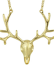 cheap -Women's Long Necklace Geometrical Deer Simple Fashion Chrome Gold Silver 74 cm Necklace Jewelry 1pc For Daily