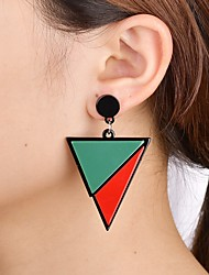 cheap -Women's Drop Earrings Geometrical Simple Fashion Modern Earrings Jewelry Rainbow / Black / White For Causal Daily 1 Pair