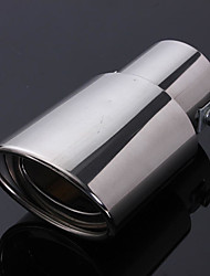 cheap -Stainless steel Car Vehicle Rear Round exhaust Pipe Tail Muffler Car Tail Rear Chrome Round Exhaust Muffler Pipe Tip
