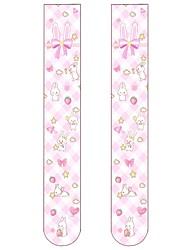 cheap -Cosplay Women's Adults' Princess Lolita Tights Girly Socks / Long Stockings Pink Anime Velvet Lolita Accessories / High Elasticity
