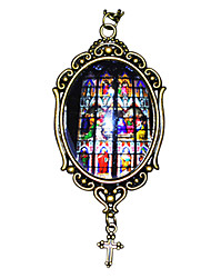 cheap -Pendant Necklace Rock Gothic Medieval Glass Alloy For Vampire Dracula Cosplay Men and Women Costume Jewelry Fashion Jewelry / 1 Necklace / 1PC Pendant