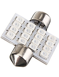cheap -1pcs 31mm Car Light Bulbs SMD 1210 240 lm 16 LED License Plate Lights / Interior Lights For Volkswagen / Toyota / Benz All years
