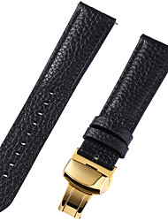 cheap -Genuine Leather / Leather / Calf Hair Watch Band Black / White / Red 17cm / 6.69 Inches / 18cm / 7 Inches / 19cm / 7.48 Inches 1cm / 0.39 Inches / 1.2cm / 0.47 Inches / 1.3cm / 0.5 Inches
