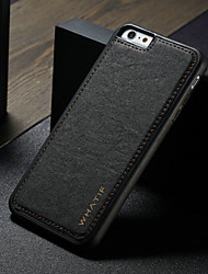 cheap -Case For Apple iPhone 6s Plus / iPhone 6 Plus Shockproof / DIY Back Cover Solid Colored Hard PU Leather