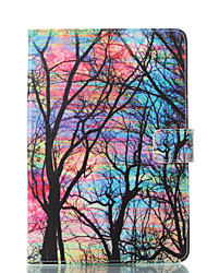 cheap -Case For Apple iPad Mini 5 / iPad New Air(2019) / iPad Mini 3/2/1 Wallet / Card Holder / with Stand Full Body Cases Tree Hard PU Leather