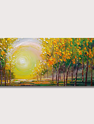 cheap -Oil Painting Hand Painted - Landscape Modern Stretched Canvas