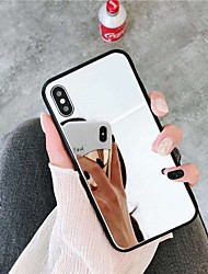 cheap -Case For Apple iPhone XS / iPhone XR / iPhone XS Max Mirror Back Cover Solid Colored Hard Acrylic