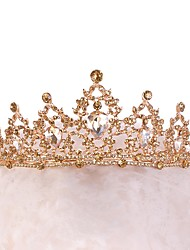 cheap -Alloy Tiaras with Crystals / Rhinestones 1 Piece Wedding / Special Occasion Headpiece