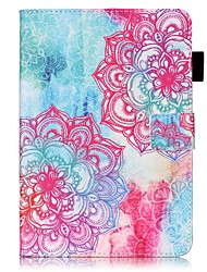 cheap -Case For Apple iPad Mini 5 / iPad New Air(2019) / iPad Mini 3/2/1 Wallet / Card Holder / with Stand Full Body Cases Flower Hard PU Leather