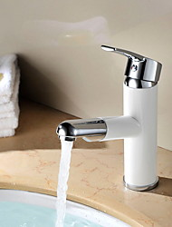cheap -Bathroom Sink Faucet - Widespread Painted Finishes Other Single Handle One HoleBath Taps