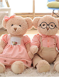 cheap -Bear Teddy Bear Stuffed Animal Plush Toy Animals Cute Cotton / Polyester All Toy Gift 1 pcs