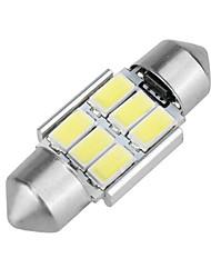 Недорогие -1 шт. Фестон Автомобиль Лампы 6 W SMD 5630 6 Светодиодная лампа Фары дневного света / Подсветка для номерного знака / Внутреннее освещение Назначение Volkswagen / Mercedes-Benz / Honda Все года