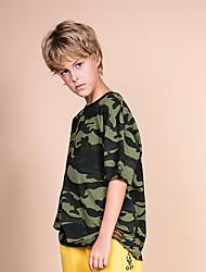 cheap -Kids Boys' Basic Print Short Sleeve Cotton Tee Green