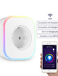 cheap -Smart Socket / Smart Plug Timing Function / with LED Light / with USB Ports 1pc ABS+PC / 750°C / anti-flame retardant Plug-in APP / Android / iOS Amazon Alexa Echo / Google Assistant / Nest