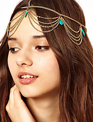 cheap -American Indian Headdress Adults' Bohemian Style Women's Golden Artificial Gemstones / Alloy Party Cosplay Accessories Halloween / Carnival / Masquerade Costumes / Female