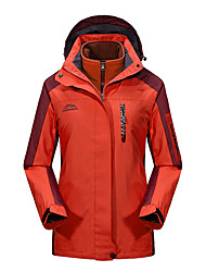cheap -Women's Hiking Jacket Outdoor Thermal / Warm Windproof UV Resistant Rain Waterproof 3-in-1 Jacket Winter Jacket Top Double Sliders Climbing Camping / Hiking / Caving Snowsports Sky Blue / Fuchsia