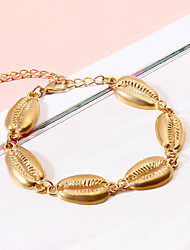 cheap -Women's Handmade Link Bracelet Tropical Shell Tropical Hawaii Jewelry Alloy Bracelet Jewelry Gold / Silver For Wedding Party Birthday Going out Bikini