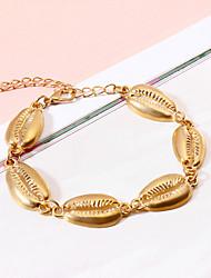 abordables -Bracelet à maillons fait main Femme Tropical Coquillage Tropical Bijoux d'Hawaï Bracelet Bijoux Dorée Argent pour Mariage Soirée Anniversaire Sortie Bikini