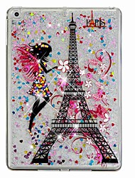 cheap -Case For Apple iPad Air / iPad (2018) / iPad Air 2 Flowing Liquid / Pattern Back Cover Eiffel Tower / Glitter Shine Hard PC / iPad (2017)