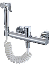 cheap -Bidet Faucet ElectroplatedToilet Handheld bidet Sprayer Self-Cleaning Contemporary