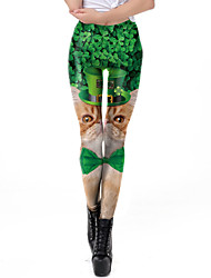 cheap -Elf Masquerade Adults' Men's Halloween Carnival St Patricks Day Festival / Holiday Elastane Polyster Green Carnival Costumes Shamrock Novelty 3 Leaf