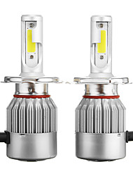 cheap -Pair C6 H4 72W 7600LM 6000k-6500K White IP68 COB Car LED Headlights High/Low Beam Lamp Bulb