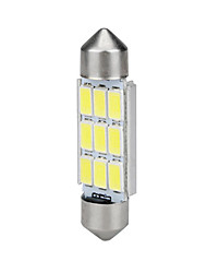 cheap -39MM Festoon 5630 9SMD Canbus Error Free Car White LED Interior Dome Light Buld