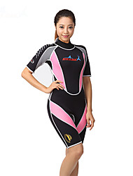 cheap -Dive&Sail Women's Shorty Wetsuit 3mm SCR Neoprene Diving Suit Thermal / Warm Quick Dry High Elasticity Short Sleeve Back Zip - Diving Water Sports Patchwork Summer
