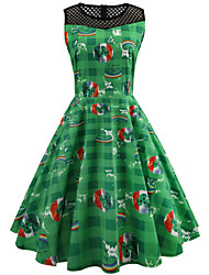 cheap -Peter Pan Dress Adults' Women's Halloween Carnival St Patricks Day Festival / Holiday Polyster Green Female Carnival Costumes 4 Leaf Shamrock Novelty