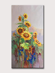 cheap -Oil Painting Hand Painted - Abstract Floral / Botanical Classic Modern Rolled Canvas