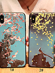 cheap -Case For Apple iPhone XS / iPhone XR / iPhone XS Max Frosted / Pattern Back Cover Animal / Flower Soft TPU