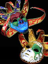 cheap -Venetian Mask Masquerade Mask Half Mask Inspired by Cosplay Venetian Yellow Blue Halloween Halloween Carnival Masquerade Adults' Women's Female