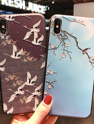cheap -Case For Apple iPhone XS / iPhone XR / iPhone XS Max Frosted / Pattern Back Cover Animal / Tree / Flower Soft TPU