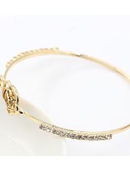 abordables -Bracelet à maillons fait main Femme Branché Romantique Elégant Bracelet Bijoux Dorée pour Soirée Rendez-vous Valentin