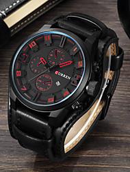 cheap -CURREN Men's Sport Watch Dress Watch Analog Quartz Sporty Fashion Water Resistant / Waterproof Calendar / date / day Casual Watch / Genuine Leather / Japanese