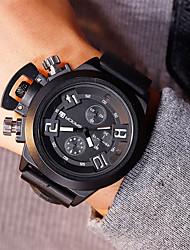 cheap -Men's Dress Watch Quartz Black Water Resistant / Waterproof Large Dial Analog Classic Casual Fashion - Black / Orange Black / Red Black / Blue