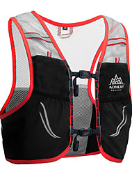 cheap -AONIJIE 2.5 L Hiking Backpack Hydration Backpack Pack Lightweight Breathable Quick Dry Wear Resistance Outdoor Hiking Climbing Racing Spandex Nylon Red Blue