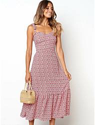 cheap -Women's Daily Street chic Sheath Dress Dusty Rose Strap Spring Blushing Pink M L XL / Sexy