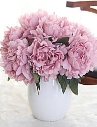 cheap -Artificial Flowers 5 Branch Classic Wedding Flowers Pastoral Style Peonies Tabletop Flower