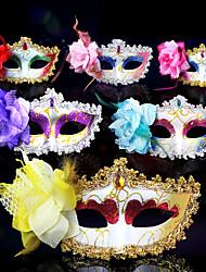 cheap -Venetian Mask Masquerade Mask Half Mask Inspired by Cosplay Venetian Purple Yellow Halloween Halloween Carnival Masquerade Adults' Women's Female
