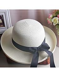Недорогие -Жен. Классический Шляпа от солнца Полиэстер,Однотонный Хаки Белый