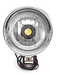 cheap -12V Motorcycle White LED Headlight With Angel Eye For Honda/Yamaha/Suzuki/Kawasaki