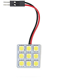 cheap -1 Piece Car Light Bulbs 4.5 W SMD 5050 9 LED Interior Lights For universal / Volkswagen / Toyota All years